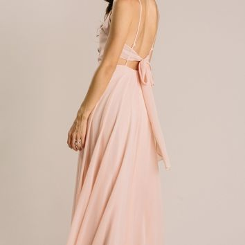 Eva Flowy Tie Back Maxi Dress
