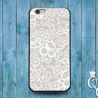 iPhone 4 4s 5 5s 5c 6 6s plus + iPod Touch 4th 5th 6th Generation Cute White Lacey Spiral Floral Mandala Henna Cool Phone Cover Lace Case