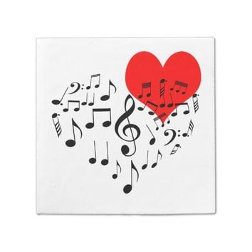 Singing Heart one-of-a-kind Paper Napkin