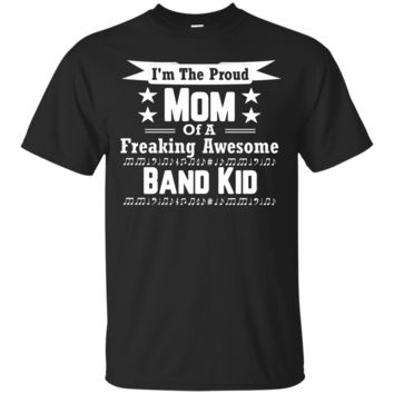 Proud Mom Awesome Band Kid Player Marching Shirt_Black
