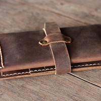 Leather iPhone 5 Wallet Case - Mens Wallets - Womens Bags Purses Wallets -- Clutch - Mobile Accessories
