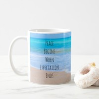 Inspirational Quote with Tropical Beach Scene Coffee Mug