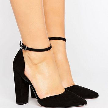 ASOS PENALTY Wide Fit Pointed High Heels at asos.com