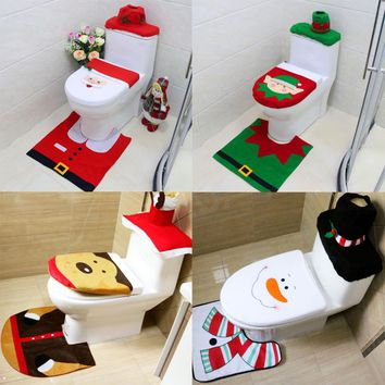 2016 Hot Sale 4 Types Cute Stylish Patterns Toilet Seat Cover and Rug