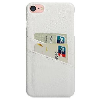 CROC CARD HOLDER PHONE CASE WHITE