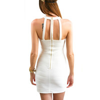 Wanna Groove White Bodycon Dress (Final Sale)