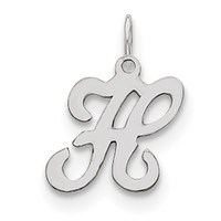 Sterling Silver Stamped Initial H Charm QC4163H