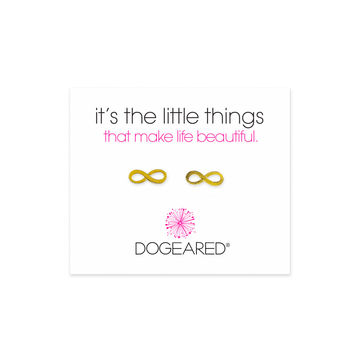 'It's the Little Things' Infinity Symbol Studs