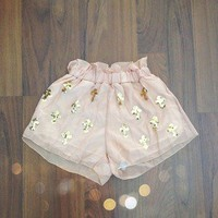 The Love of pretty — Cross chiffon shorts