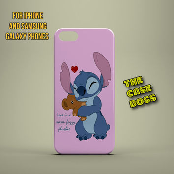 STITCH LOVE IS Design Custom Phone Case for iPhone 6 6 Plus iPhone 5 5s 5c iphone 4 4s Samsung Galaxy S3 S4 S5 Note3 Note4 Fast!