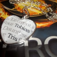 Divergent Insurgent Allegiant Dauntless Faction 'Tris' and 'Tobias Literary Book Quote Pendant Necklace