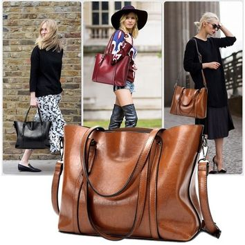 New Retro Fashion Cowhide Leather Bags Handbags Women Crossbody Bag Trunk Tote Designer Shoulder Bag Ladies Large Bolsos Mujer