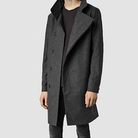 Mens Grove Coat (Charcoal) | ALLSAINTS.com