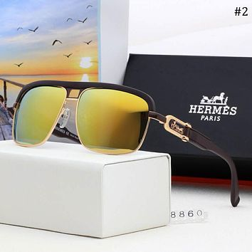 Hermes 2018 new men's polarized color film fashion sunglasses #2