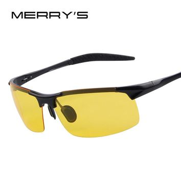 MERRY'S Aluminum Alloy Night Driving Sunglasses Goggles Driving Glasses