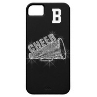Monogram, Cheer, Black & White Phone 5/5S Case