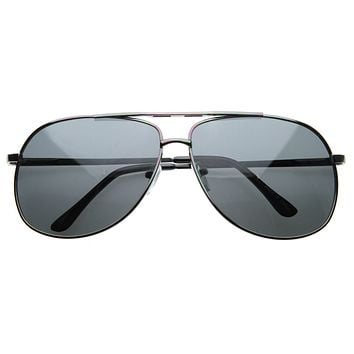 Premium Mens Polarized Lens Metal Square Wire Frame Sunglasses 8317