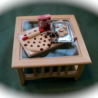 DOLLS HOUSE MINIATURES - Making Cookies Set