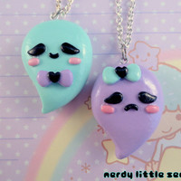 Creepy Cute Best Friend Pastel Ghost Necklaces