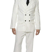 White Gangster Suit Costume