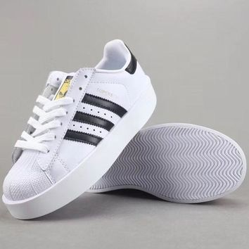 Adidas Superstar Bold W Women Men Fashion Casual Old Skool Low-Top Shoes-1