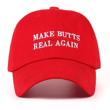 Make butts real again funny dad hat