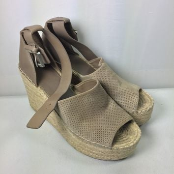 Marc Fisher Ltd. Women's Adalyn Ankle Strap Espadrille Platform Wedge Sandals