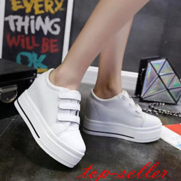 Women Hidden Wedge Low Top Creeper Canvas Sneaker High Wedge Heel Platform Shoes | eBay