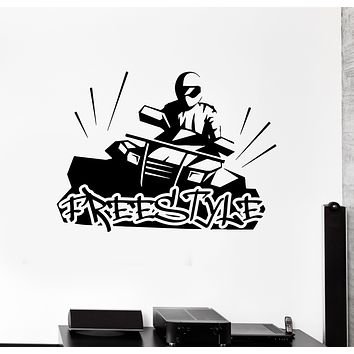 Wall Decal Freestyle Extreme Sports ATV Motorcycle Racing Vinyl Sticker (ed1654)