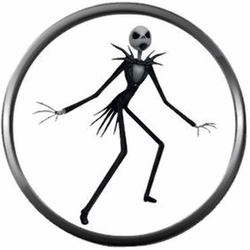 Pumpkin King Jack Skellington Halloween Town Nightmare Before Christmas 18MM - 20MM Charm for Snap Jewelry New Item