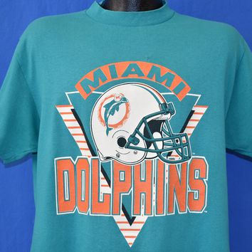 80s Miami Dolphins NFL Helmet t-shirt Large