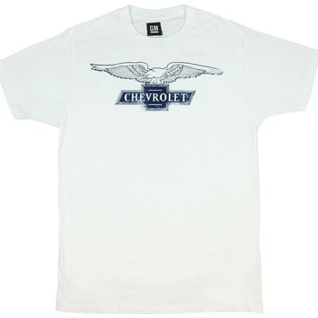 GM Chevrolet Eagle Cutout Logo Adult Men's T-Shirt