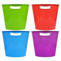 Bulk Round Plastic Storage Buckets with Slotted Handles at DollarTree.com