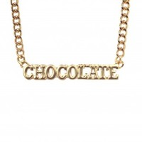 B2 – CHOCOLATE NECKLACE