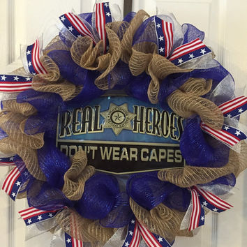 Police Wreath, LEO Gift, LEO, Police Officer Wreath, Police Officer Gift, Police Officer, Law Enforcement, Police Gift