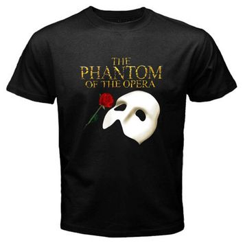 The Phantom of The Opera Broadway Show Musical Men's Black T-shirt Size S to 3XL 100% Cotton T Shirts Brand Clothing Tops Tees