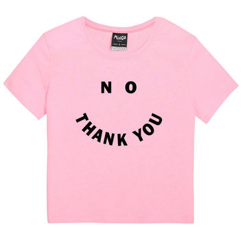 no thank you TEE WOMENS t shirt top tank ladies funny tumblr hipster fashion grunge retro kawaii goth cute vintage harajuku feminist slogan