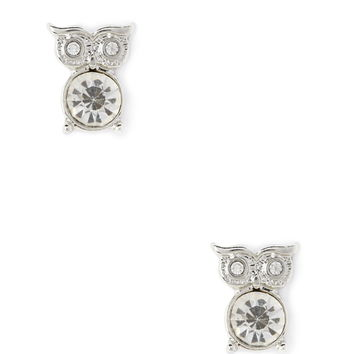 Rhinestone Owl Studs - Womens accessories, jewellery and bags | shop online | Forever 21 - 1000121595 - Forever 21 EU English
