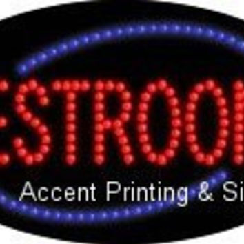 Restrooms Flashing & Animated LED Sign (High Impact, Energy Efficient)