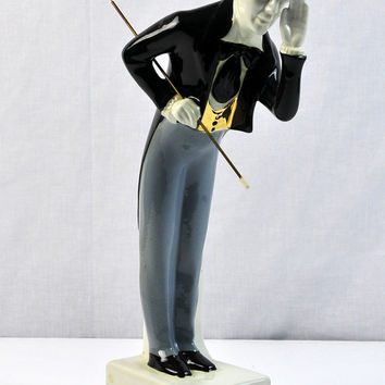 I. W. Harper Decanter, Bowing Gentleman, 1969