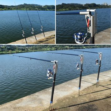 2.1m/2.4m/2.7m/3.0m Automatic Fishing Rod Adjustable Telescopic Rod Pole Device Sea River Lake Pool Fish Tackle with Bank Stick