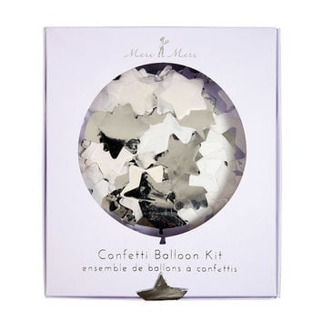 Confetti Silver Balloon Kit