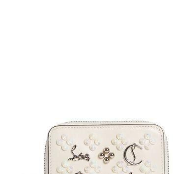 Christian Louboutin Panettone Calfskin Leather Coin Purse | Nordstrom