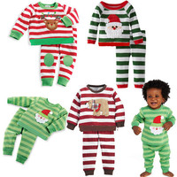 2PCS/1-5Years Autumn Winter Holiday Childrens Clothing Set
