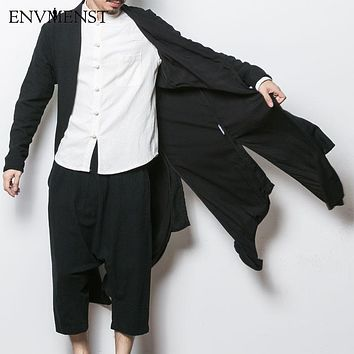 China Style Men's Cardigan Trench Coat/Jacket