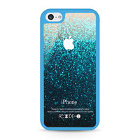 Blue Water Glitter iPhone 5C case