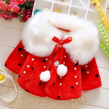 Brand Baby Coats Thick Winter Warm Girls Clothes Cloak Cute Cat Hooded Coat newborn Baby jacket Baby-Snowsuit 0-24M P060