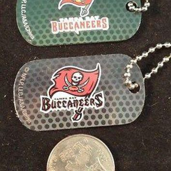 2 NFL Tampa Bay Buccaneers Logo Dog Tags Key chains backpacks party Gift