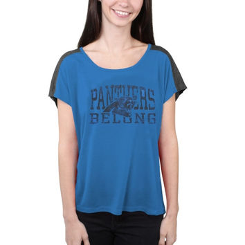 Carolina Panthers Majestic Women's Play For Me T-Shirt – Panther Blue