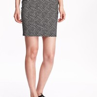 Old Navy Womens Patterned Pencil Skirts